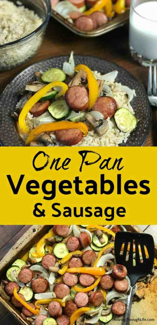 A sheet pan meal is an easy meal that is made on a single baking sheet. This quick and easy meal idea is great with smoked sausage and vegetables.