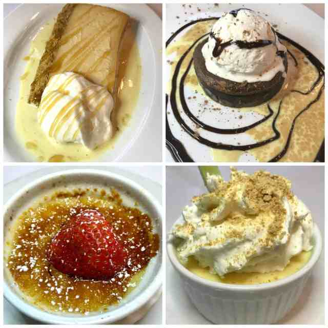 Brio dessert collage