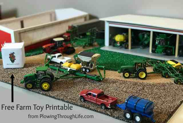 free farm toy scene printable seed sack
