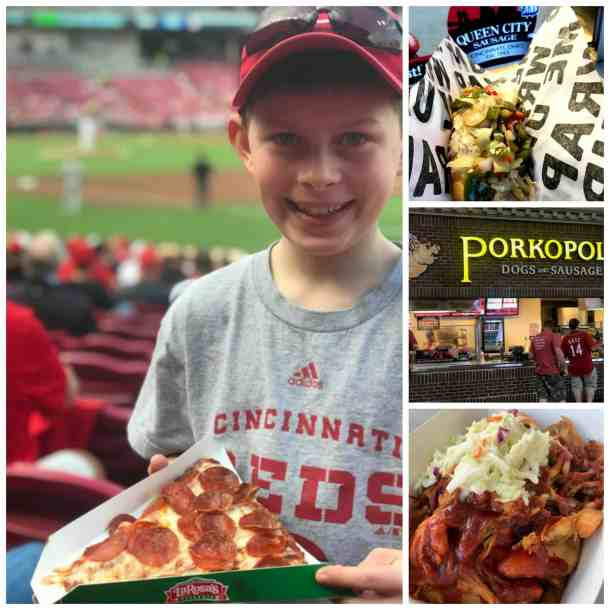 la rosas pizza, Queen City sausage in porkopolis at the great American ballpark