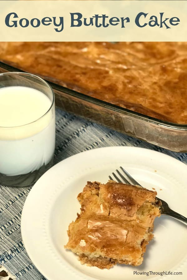 Easy Ooey Gooey Butter Cake Recipe
