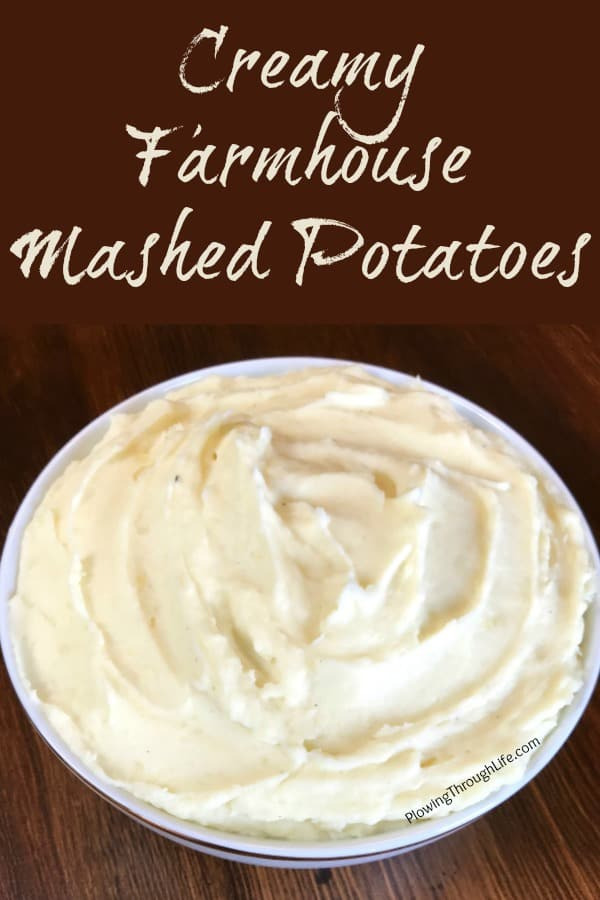Do you like rich and creamy mashed potatoes that are easy to make?  Then you'll love this Easy Farmhouse Mashed Potatoes Recipe!