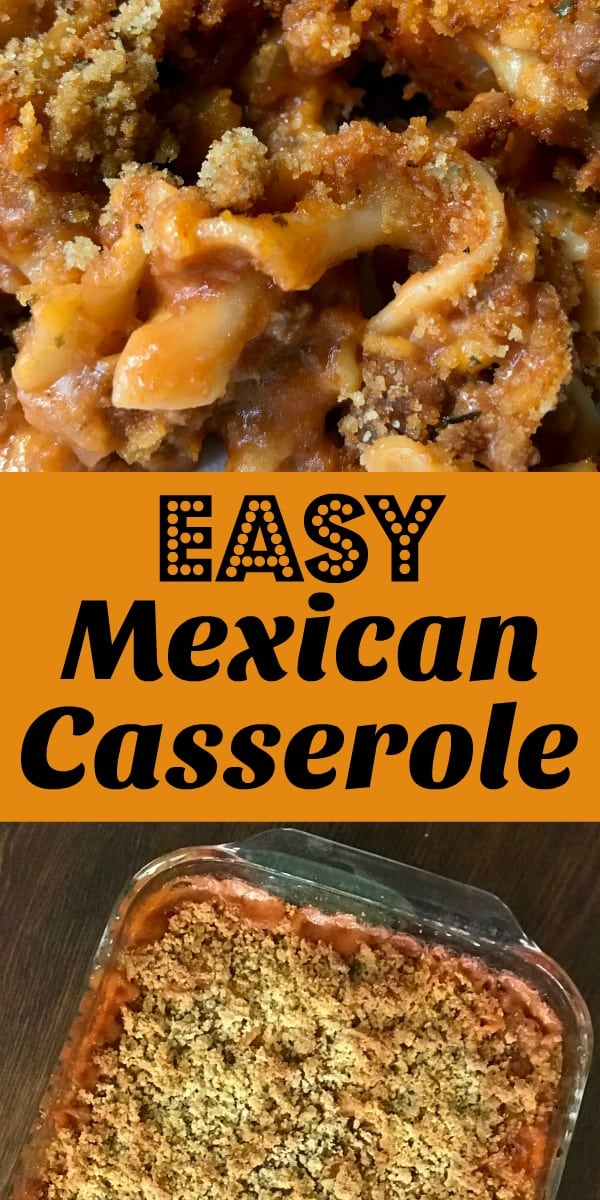 Easy casseroles with ground beef and simple ingredients are some of our favorite meals!  This Easy Mexican Casserole recipe is a classic noodle and hamburger casserole that has been in the family for years.  Even our picky eaters enjoy eating this easy meal!