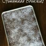 Big pan of brownies is an easy chocolate dessert to feed a crowd