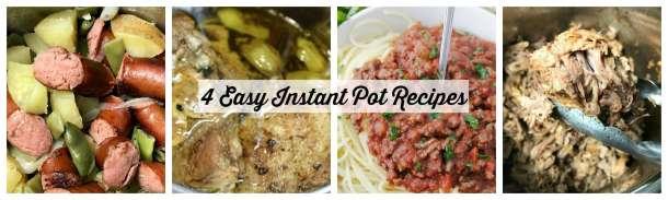 4 Easy Instant pot Recipes