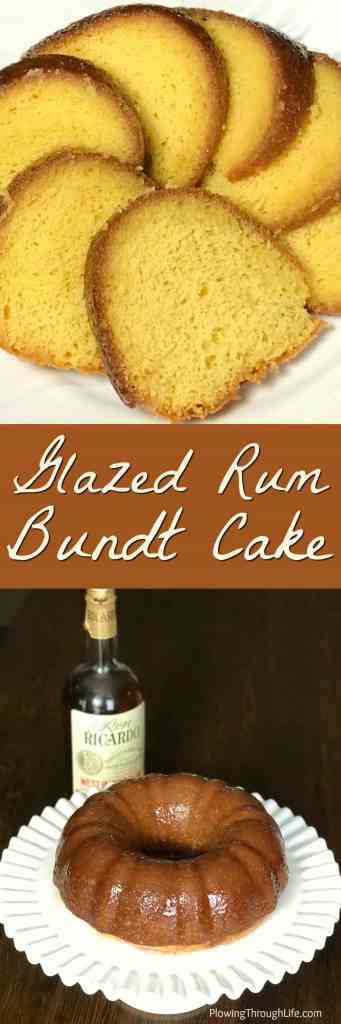 Are you looking for an easy bundt cake from a box of yellow cake mix?Our Glazed Rum Bundt Cake is a light cake that is good on the palate! #easycake #bundtcake