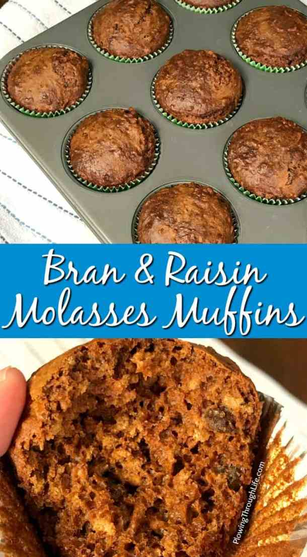 TheseBran and Raisin Molasses Muffins remind me of breakfast cereal from my childhood. These old fashioned molasses muffins have a sweet and rich taste while being packed full of fiber. We love the unique flavors in these muffins!