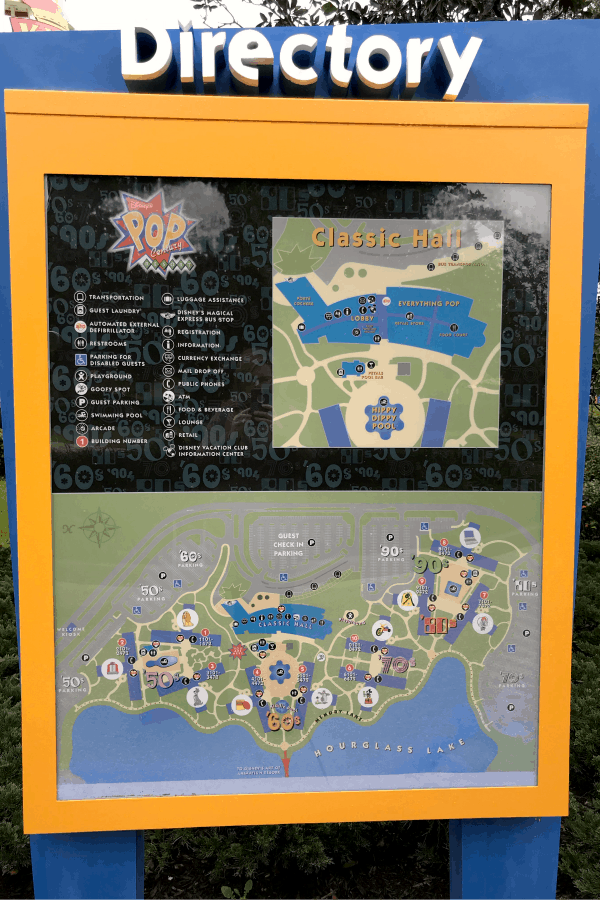 Pop Century Directory & Resort Notes