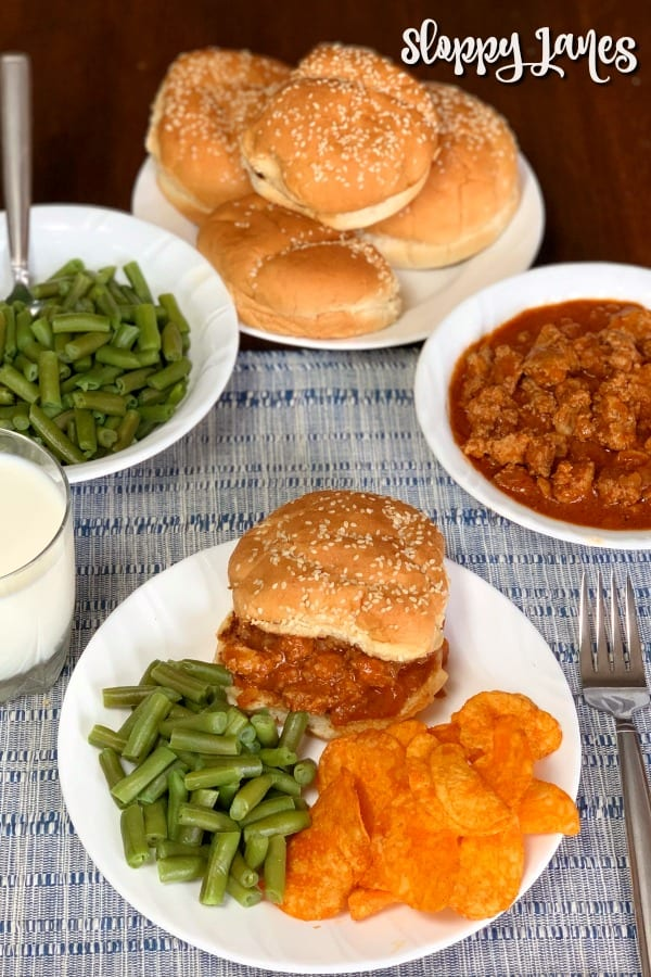 Sloppy Jane Sandwiches are a lighter cross between chili and Sloppy Joes in sandwich form.  This is a hearty sandwich that is lighter and lower in calories.  We love how easy these sandwiches are to make and how good they taste!