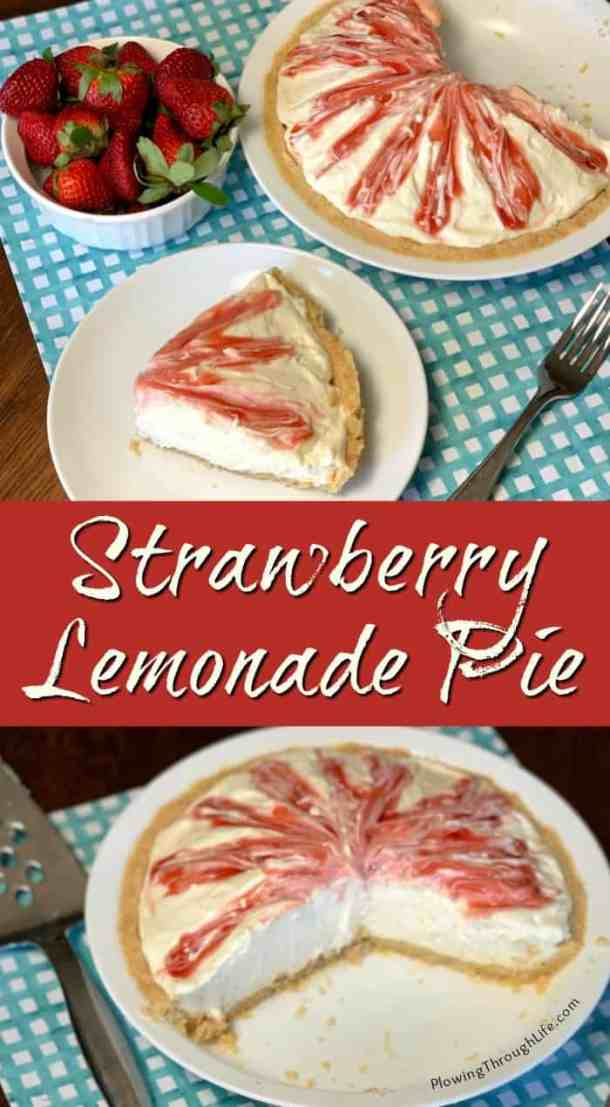 This Strawberry Lemonade Pie is a BEST OF SHOW winning pie from the county fair! This pie has a golden Oreo crust a creamy and sweet filling and the perfect treat with a fresh lemon flavor!