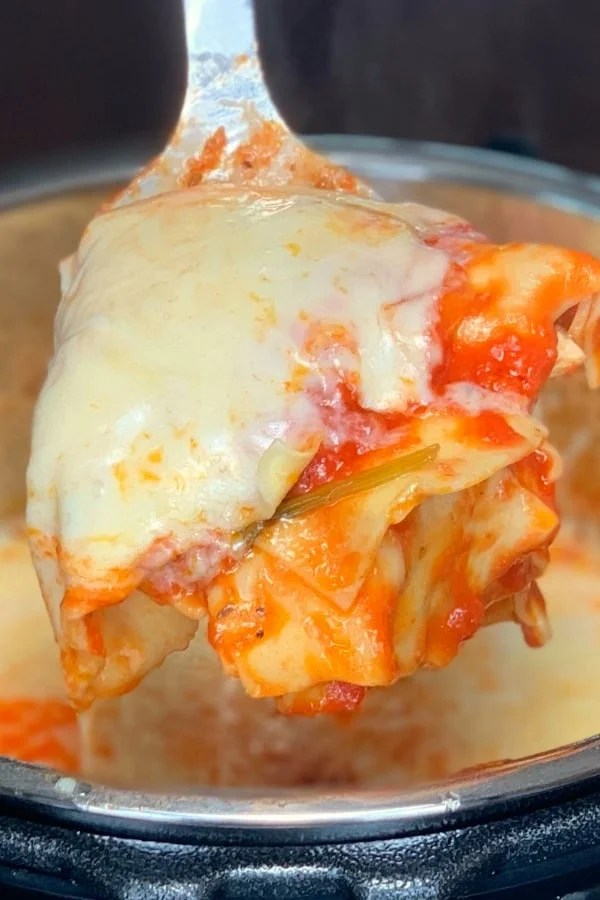 Easy Instant Pot Lasagna loaded with vegetables