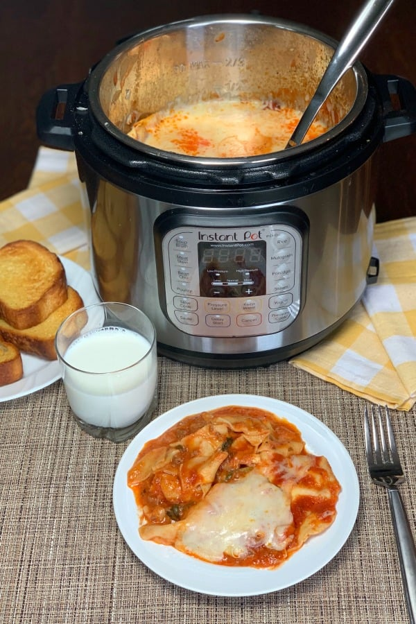 Farmhouse Instant Pot Loaded Lasagnais an easy family meal that even picky eaters like. Using tomato juice ensures the pasta noodles are always soft and full of flavor. We love hiding vegetables in this lasagna casserole!