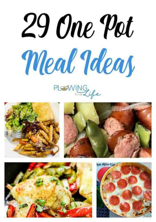 One Pot Family Meal Ideas with pasta and sausage