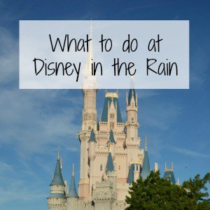 what to do when it's raining at Disney World
