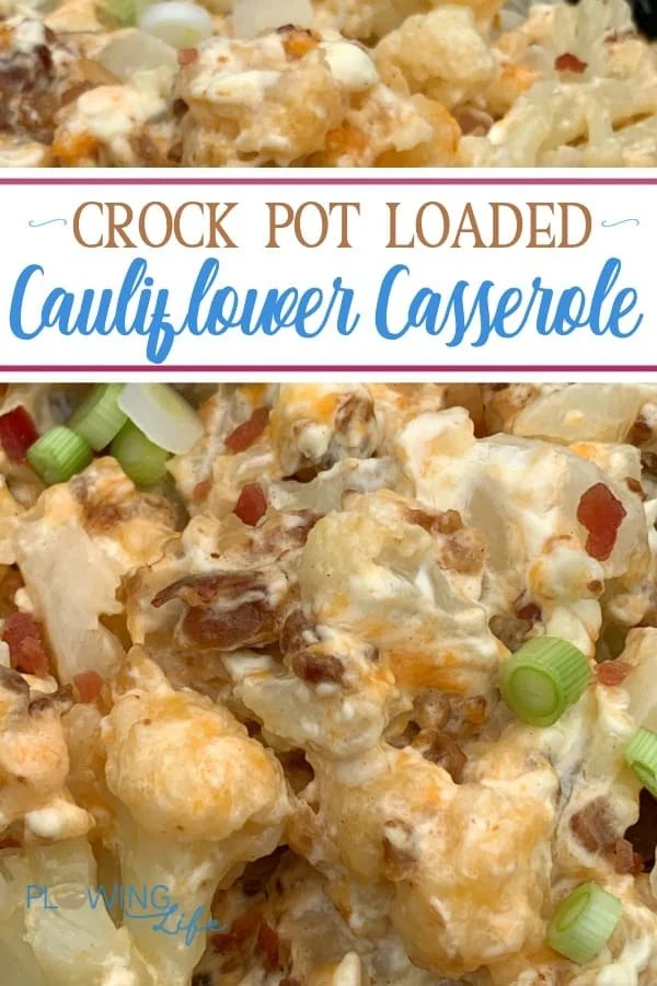 Frozen cauliflower loaded with cream cheese, shredded cheese, bacon and green onions taste so good that even the picky eaters in our family enjoy it!  Using the slow cooker makes this side dish easy enough to make on the busiest of days!