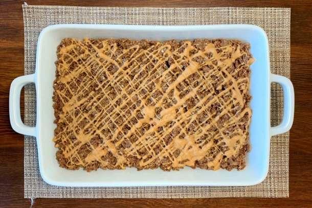 9 x 13 pan of chocolate and peanut butter rice crispy treats