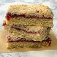 Stack of 3 raspberry pastries