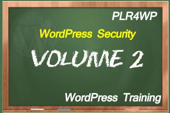 plr4wp Volume 2 WordPress Security