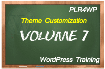 plr4wp Volume 7 WordPress Theme Customization