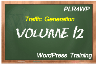 plr4wp Volume 12 WordPress Traffic Generation