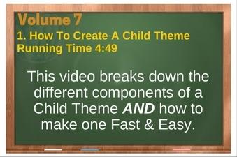 PLR 4 WordPress Vol 7 Video 1 How To Create A Child Theme