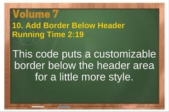 PLR 4 WordPress Vol 7 Video 10 Add Border Below Header