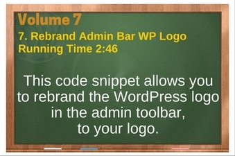 PLR 4 WordPress Vol 7 Video 7 Rebrand Admin Bar WP Logo