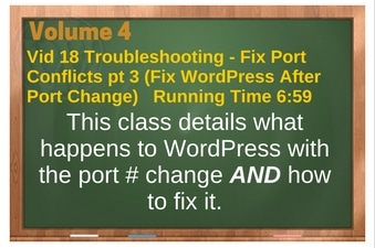 PLR for WordPress Volume 4 Video 18 Fixing Port Conflicts pt 3 (Fix WordPress After Port Change)