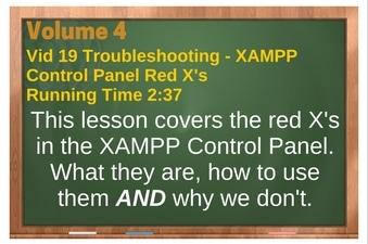 PLR for WordPress Volume 4 Video 19 XAMPP Control Panel Red X's