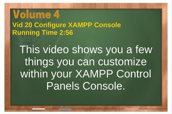 PLR for WordPress Volume 4 Video 20 Configure XAMPP Console