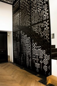 Custom-Designed Interior Architectural Feature, Toorak (Powder Coated Aluminium)