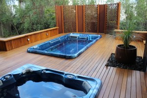 'Square on Square' Decorative Pool Screens