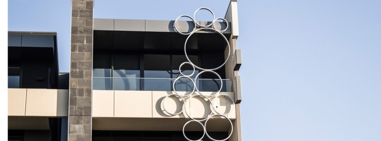 'Bubbles' Facade Sculpture - Bay Steet, Sandringham (Stainless Steel)