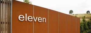Corten Fencing Panels and Stainless Steel Lettering