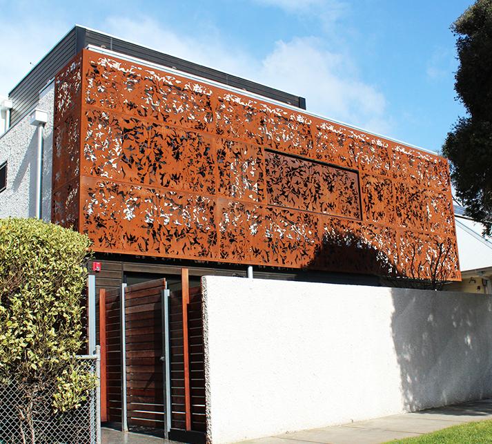 'Olinda Leaves' Facade, Carnegie (Corten)