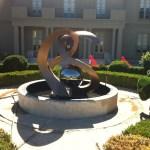 Custom-Designed Monogram Fountain Sculpture