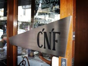 C'N'F Cafe-Bar, South Yarra - Door Sign with Enamel Inlay