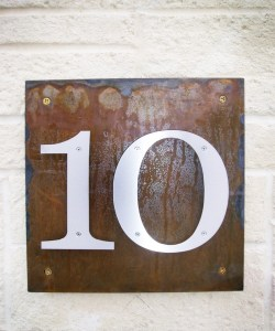 House Number Panel