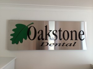 Commercial Signage with Enamel Inlay - Oakleigh
