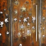 'Maple Leaf' Laser-Cut Security Door with Mesh