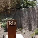 Freestanding Mailbox with Stainless Steel Numbers