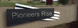 Estate Signage with Steeling Lettering, Yea