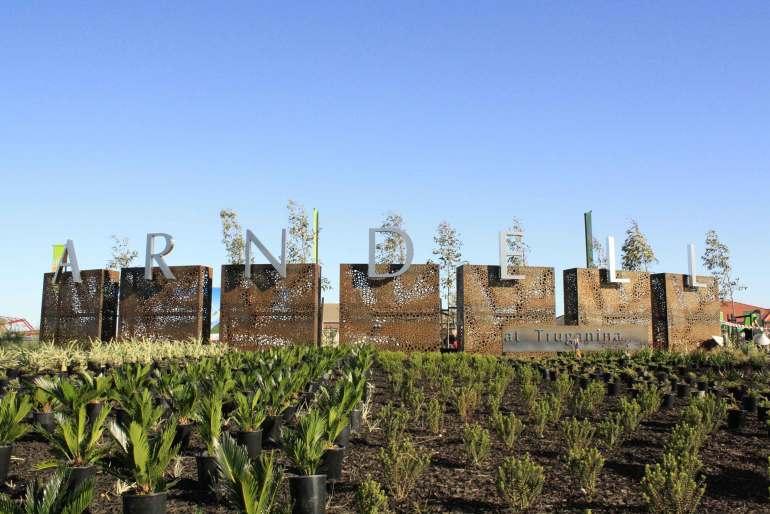 Arndell at Truganina steel signage by PLR Design