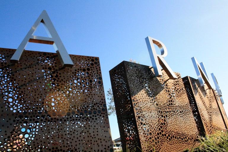 Arndell at Truganina Corten steel signage by PLR Design
