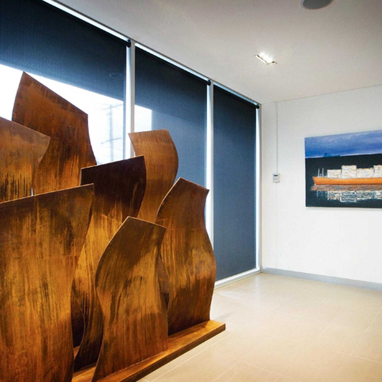 Ripples Large Corten steel sculpture by PLR Design