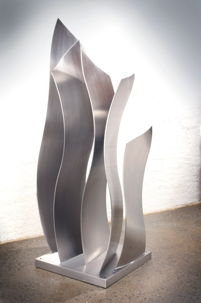 Ripples stainless steel sculpture by PLR Design