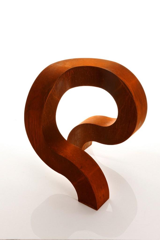 Spirit Version 2 Corten steel sculpture in studio by PLR Design