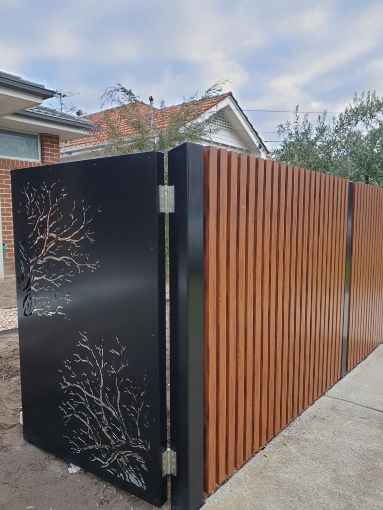 Laser cut steel security gate by PLR Design