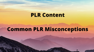 Common PLR Misconceptions