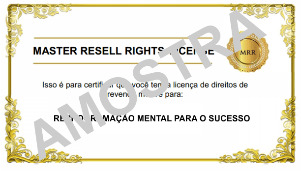 LICENÇA MRR